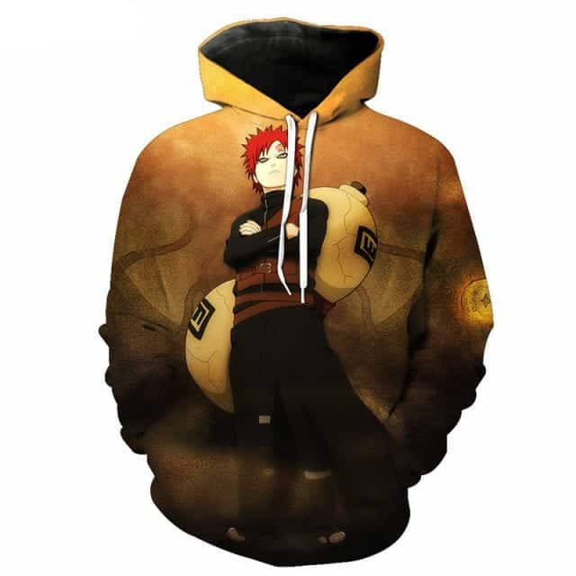 Gaara Kazekage Powerful Great Shinobi Sunagakure Famous Naruto Hoodie