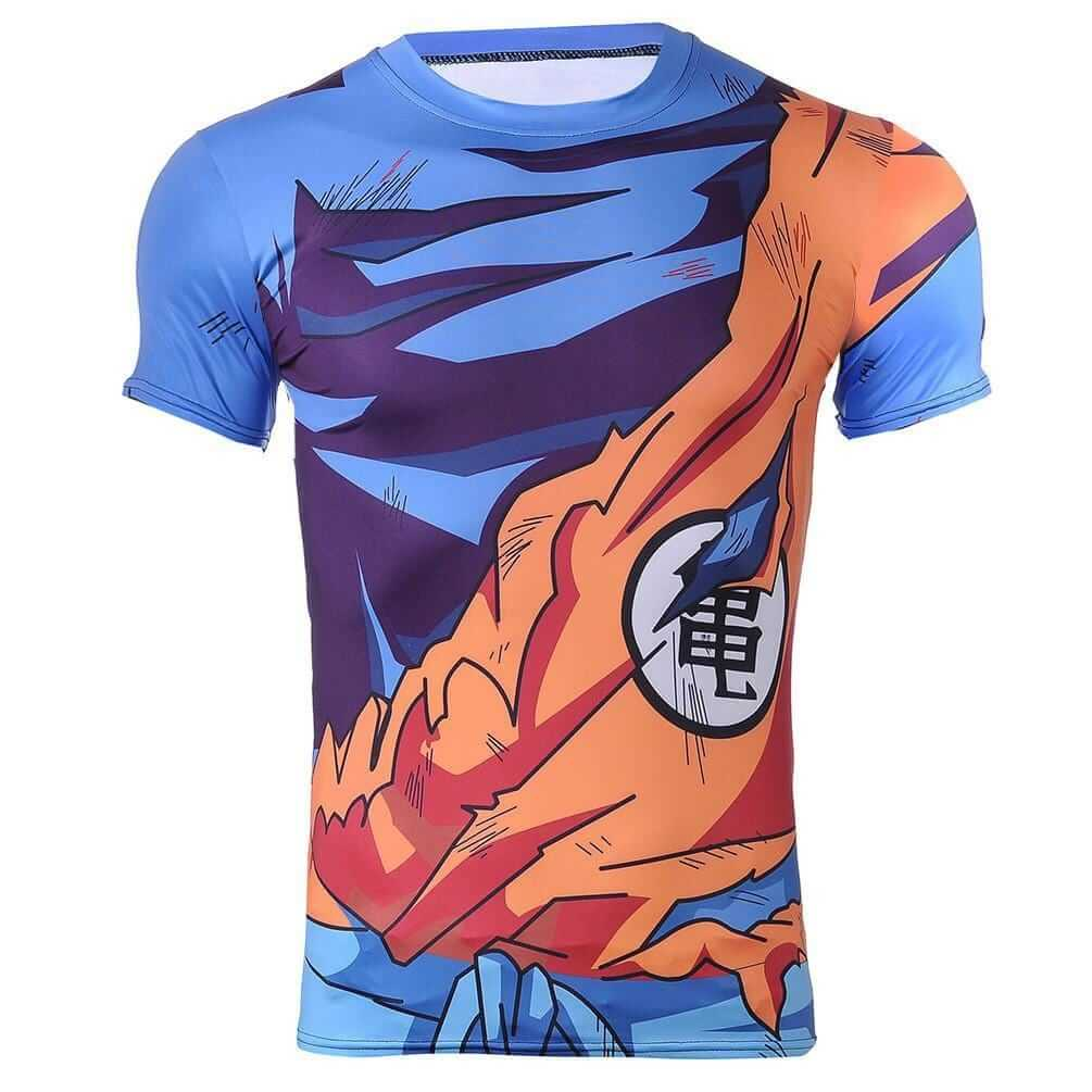 Goku Uniform Outfit Battle Damaged Workout Compression 3D T-Shirt
