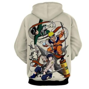 Naruto Hinata Lee Ninja Style Pose Dope Art Winter Hoodie
