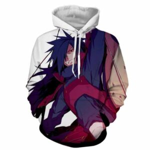 Naruto Japanese Anime Madara Uchiha Fan Art Print Hoodie