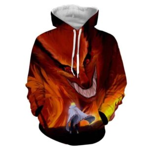 Naruto Kurama Fire Monster Fox Fan Art Dope Manga Hoodie