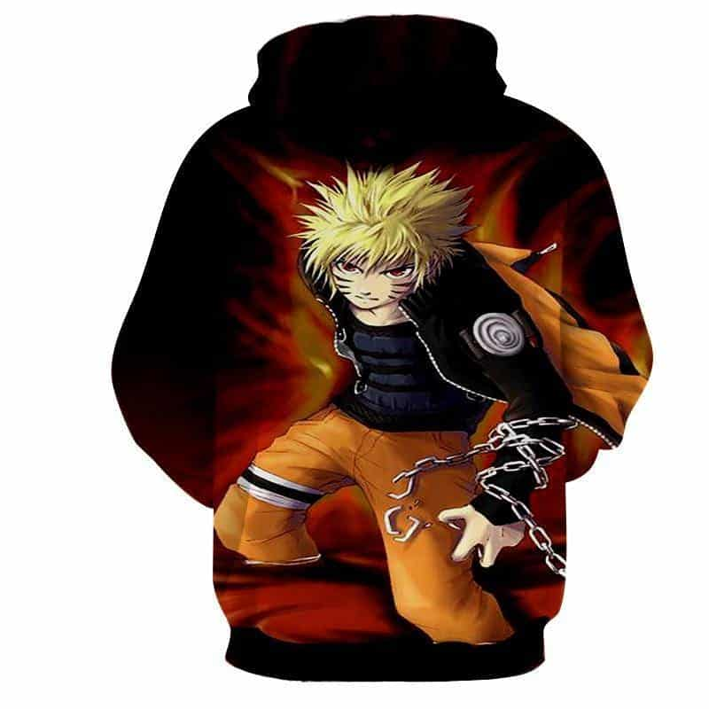 Naruto Uzumaki Japanese Anime Powerful Fan Art Hoodie