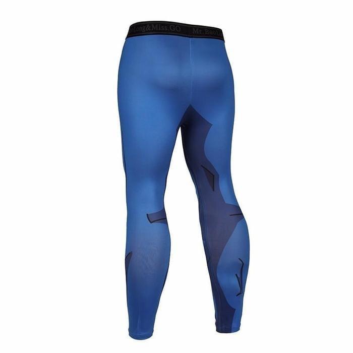 Vegeta Cell Saga Prince Black Waist Fitness Gym Compression Leggings Tights