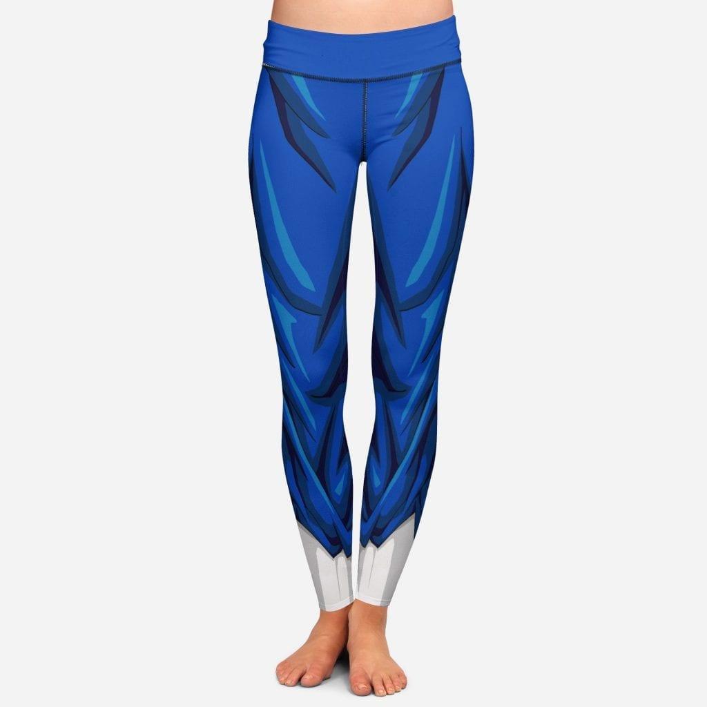 Vegito DBZ Women Cosplay Blue Leggings