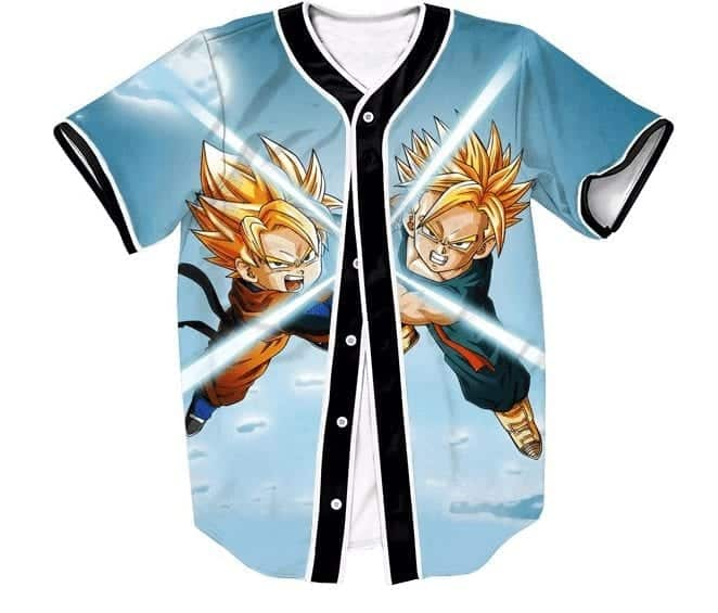 DBZ Super Saiyan Trunks Goten Kids Fight Battle 3D Hip Hop Baseball Jersey