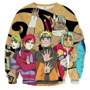 Naruto Jinchuuriki Powerful Ninja Cartoon Sweatshirt