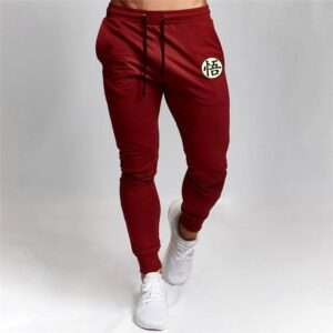 DBZ Son Goku Cool Kanji Symbol Red Training Sweatpants
