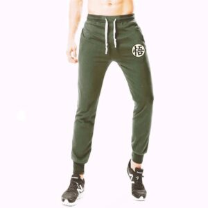 Dragon Ball Z Goku Training Kanji Symbol Green Sweatpants