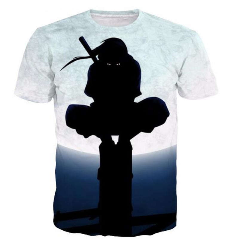 Anbu Ninja Itachi Uchiha Full Moon Naruto Anime 3D T-shirt