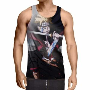 Boruto Uzumaki Katana Curse Seal Karma Mark Cool Tank Top