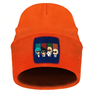DBZ Bulma Goku Krillin Master Roshi Formal Look Orange Beanie