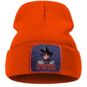 DBZ Goku Black Punishment Of The Gods Orange Winter Beanie