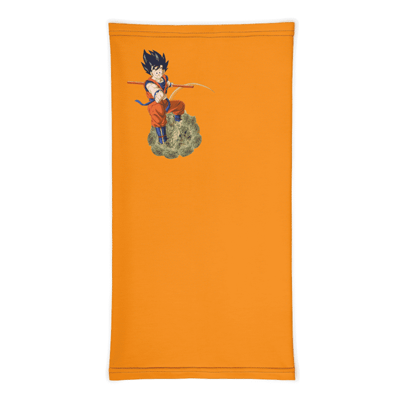 DBZ Goku Riding Weed Nug Orange Face Covering Neck Gaiter
