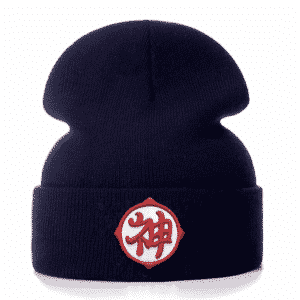 DBZ Kami Guardian God Kanji Dark Blue Streetwear Beanie