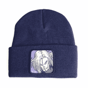 DBZ Lazuli Android 18 Navy Blue Classic Winter Beanie