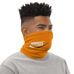 DBZ Nimbus Art Nike Inspired Orange Face Covering Neck Gaiter