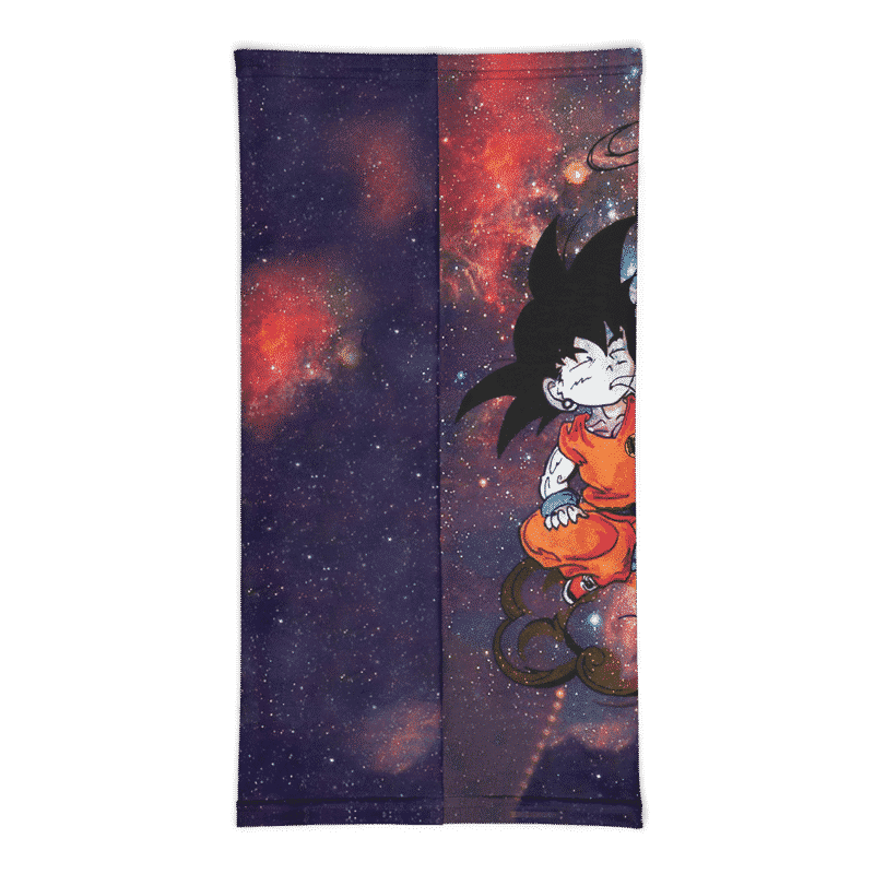 DBZ Rebel Kid Goku High on Weed Face Covering Neck Gaiter