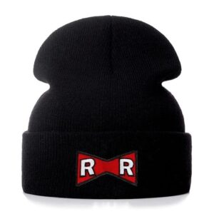 DBZ Red Ribbon Army Logo Black Casual Streetwear Beanie