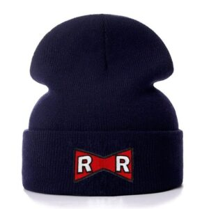 DBZ Red Ribbon Army Logo Dark Blue Winter Knit Beanie