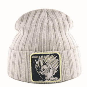 DBZ Son Gohan Super Saiyan Beige Warm Winter Beanie