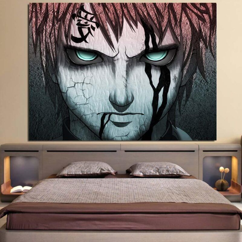 Deadly Look Gaara Kazekage Amazing Power Damage 1pc Wall Art