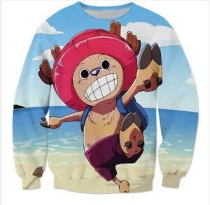 Doctor Tony Tony Chopper - One Piece Holidays Beach 3D Sweatshirt