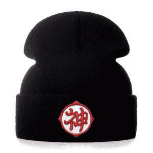 Dragon Ball Kami Guardian God Kanji Black Winter Beanie