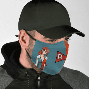 Dragon Ball Z Android 21 Red Ribbon Army Symbol Face Mask