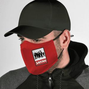 Dragon Ball Z Badass Saiyan Team Obey Inspired Red Face Mask