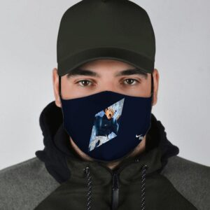 Dragon Ball Z Enraged Byo Nike Inspired Navy Blue Face Mask