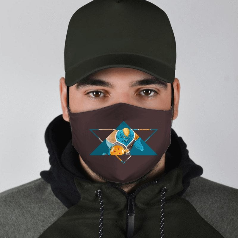 Dragon Ball Z Ginyu Force Burter Cool Art Brown Face Mask