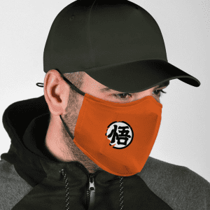 Dragon Ball Z Goku Kanji Wisdom Symbol Orange Face Mask