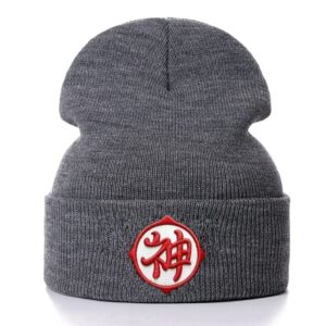 Dragon Ball Z Kami Kanji Symbol Gray Warm Winter Beanie