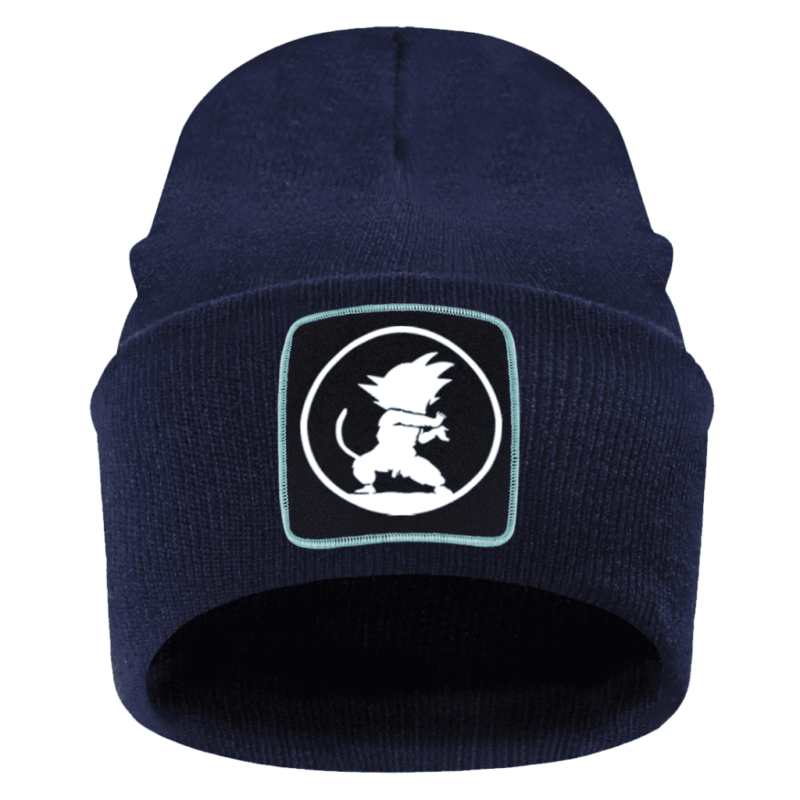 Dragon Ball Z Kid Goku Silhouette Dark Blue Outdoor Beanie