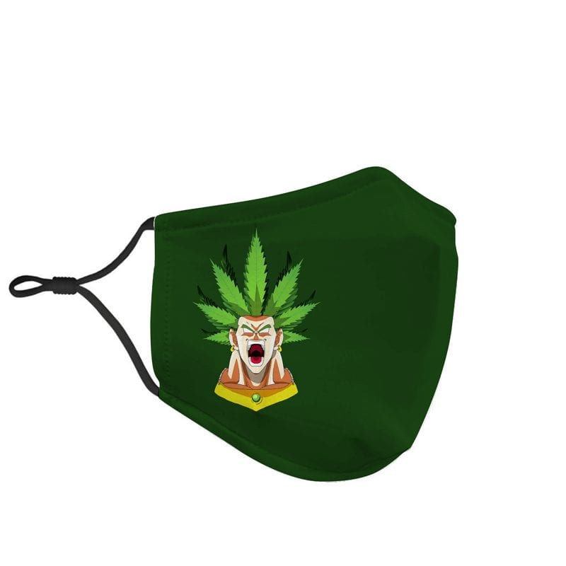 Dragon Ball Z Legendary Broly Weed Hair Green Face Mask