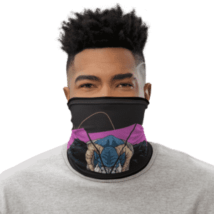 Dragon Ball Z Moro Art Black Face Covering Neck Gaiter
