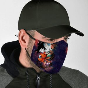 Dragon Ball Z Rebel Kid Goku High on Weed Starry Face Mask