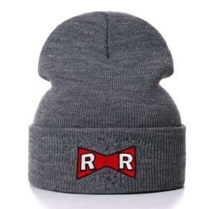 Dragon Ball Z Red Ribbon Army Logo Gray Winter Beanie