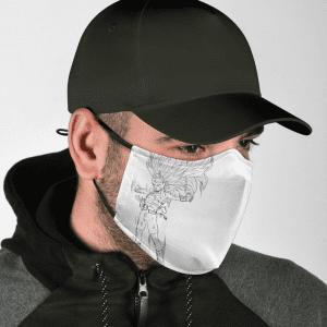 Dragon Ball Z Super Saiyan 3 Cabba Dope White Face Mask