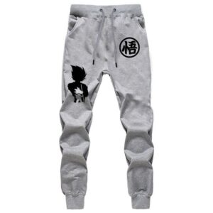 Goku Kanji Training Symbol Vegeta & Kid Goku Gray Joggers
