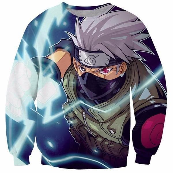 Kakashi Hatake Cool 3D Flash Full Print Crewneck Sweatshirt