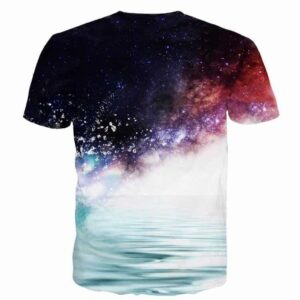 Kakashi Hatake in the Water Galaxy Space Naruto Unique Stylish 3D T-Shirt