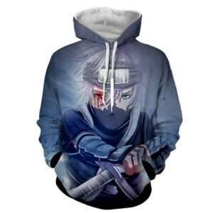 Kakashi Young Ninja Sharingan Fan Art Design Cool Hoodie