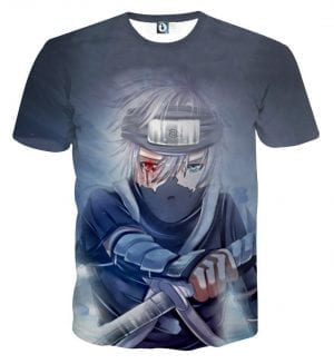 Kakashi Young Ninja Sharingan Fan Art Design Cool T-Shirt