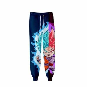 Mini Goku SSGSS God Blue & Goku Black Rose Gym Sweatpants