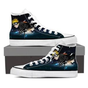 Naruto and Sasuke Friendship Bond Navy Blue Sneakers Shoes