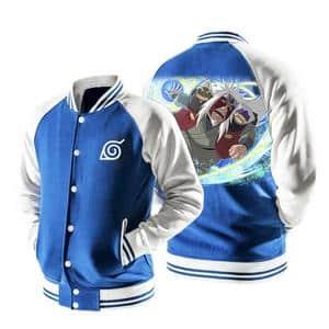 Naruto Anime Jiraiya Sage Mode Rasengan Blue Baseball Jacket