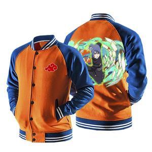 Naruto Anime Konan Akatsuki Kunoichi Orange Baseball Jacket