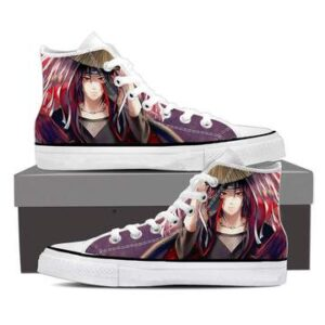 Naruto Anime Uchiha Itachi Fan Art Design 3d Sneakers Shoes