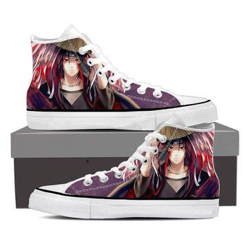 Naruto Anime Uchiha Itachi Fan Art Design 3d Sneakers Shoes